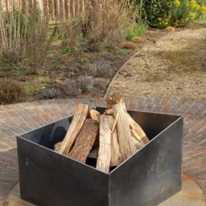 Basalt fire pit contemporary modern metal geometric firepit see gallery