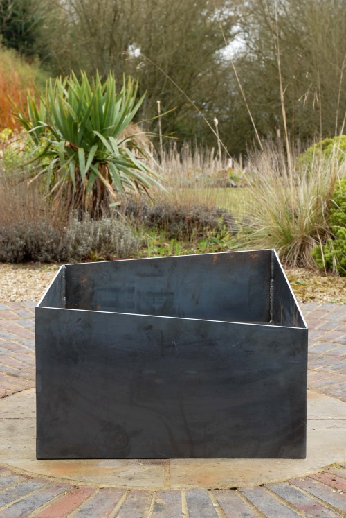 Basalt fire pit a modern firepit in 5mm steel this will for Modern fire pit