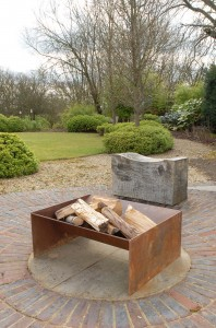 Chunk fire pit artisan contemporary modern metal firepit see gallery