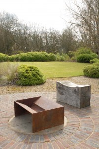 Chunk fire pit artisan contemporary modern metal firepit geometric see gallery