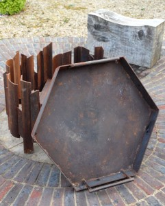 Magma fire pit showing tray MAGMA fire pit, each Magma artisan contemporary firepit ordered is unique, bespoke sizes available