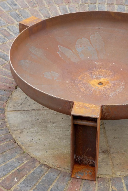 Vulcan fire pit contemporary artisan firepit made in the uk