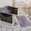 Tecton collapsible fire pit modern contemporary steel unusual sculptural see gallery