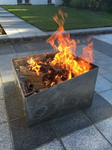 Stainless steel Basalt fire pit