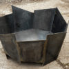 Crackle fire pit in 5mm steel handmade in the UK modern contemporary steel unusual sculptural modern contemporary steel unusual sculptural see gallery