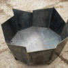 Crackle fire pit in 5mm steel handmade in the UK see gallery