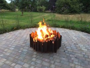 Happy clients photos bespoke sized fire pits